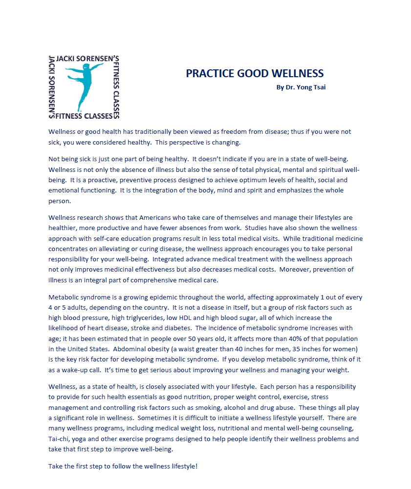 Practice Good Wellness