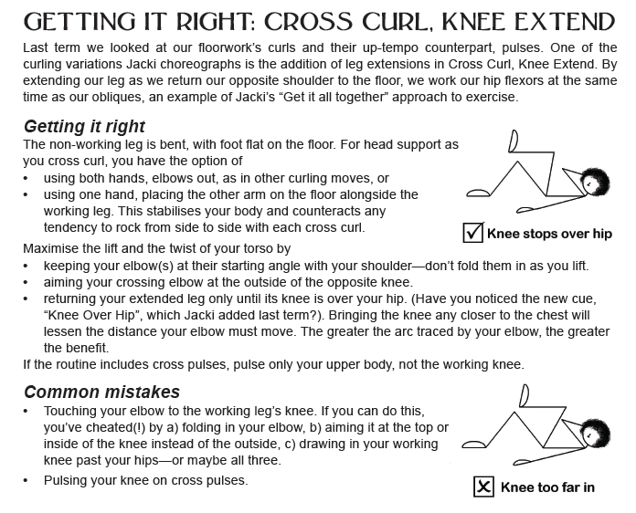 Cross Curl, Knee Extend