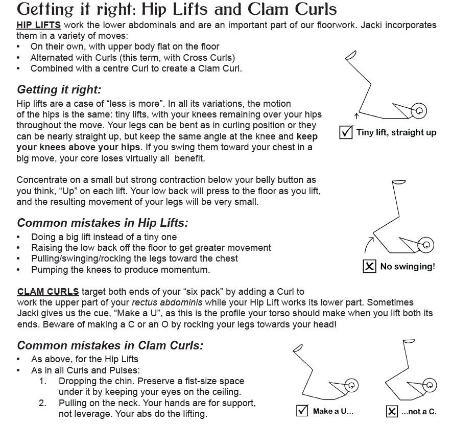 Hip Lifts and Clam Curls