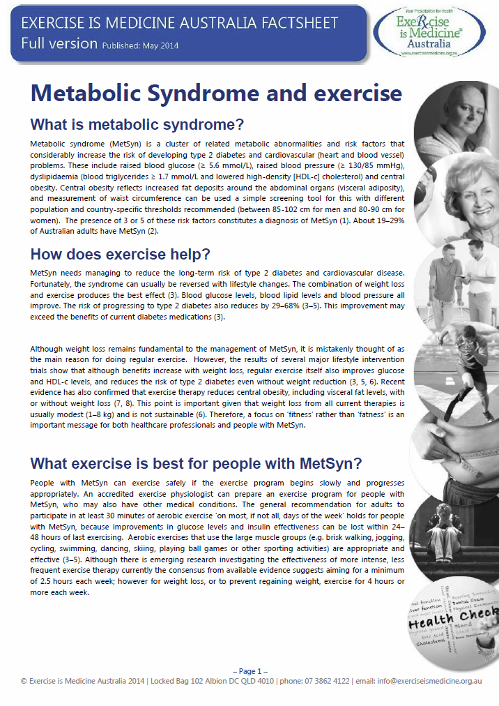 Metabolic Syndrome page 1